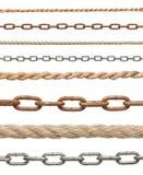 链子和绳索 免版税图库摄影
