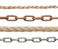 链子和绳索 免版税库存照片