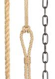 链子和绳索的汇集 图库摄影