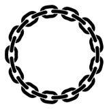 链子圆的框架  库存图片