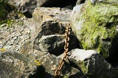 链子在海边 库存图片