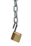 链子开放挂锁 库存照片