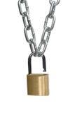 链子开放挂锁 免版税库存图片