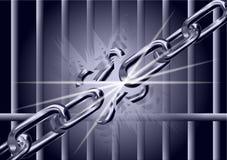 链子是残破的 免版税库存图片