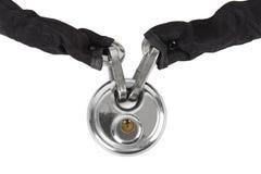 链子查出的锁定金属保护偷窃 库存照片