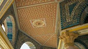 链子的圆顶的内部的细节在耶路撒冷 免版税库存图片