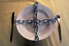 链子饮食食物 库存图片