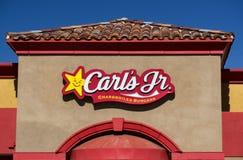链小找出餐馆s南部的西南状态的卡尔团结了西部 卡尔的Jr.,与地点的一个基于美国的速食餐厅链子西部和西南状态的 免版税库存照片