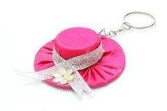 链帽子关键字粉红色 库存照片