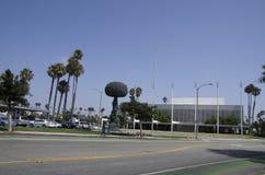 链式反应,雕塑艺术佐田莫妮卡加利福尼亚 免版税库存照片