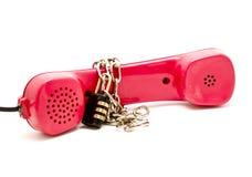 链挂锁电话红色 库存照片