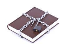 链接的书棕色链子 免版税库存图片