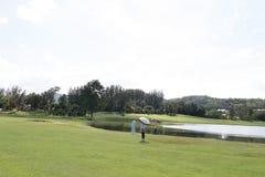 链接高尔夫球 图库摄影