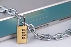 链数字式笔记本挂锁 库存照片