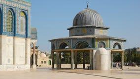 链祷告屋的圆顶在耶路撒冷 股票视频