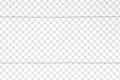 链篱芭,铁铁丝网。 库存图片