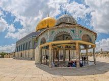 链耶路撒冷的圆顶 库存照片