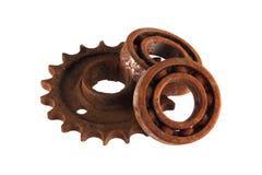 链轮和嵌齿轮 库存图片