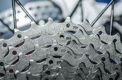 链轮自行车细节 库存照片