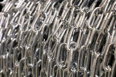 链银 在卷轴的链子 免版税库存图片