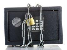 链锁定安全 库存照片