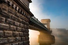 链brifge在布达佩斯 库存照片