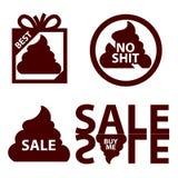 销售与粪的象商标 免版税库存图片