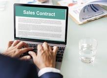 销售合约形成文件法律概念 库存图片