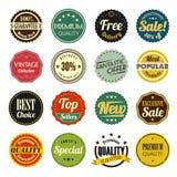销售和促进标号组 免版税库存图片