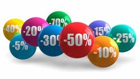 销售和折扣概念 库存例证