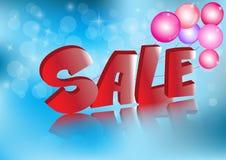 销售和折扣横幅,传染媒介例证 免版税库存图片