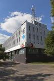 销售和服务Rostelecom的中心在市沃洛格达州 库存照片