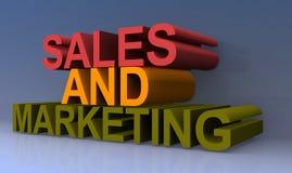销售和营销标志 库存例证