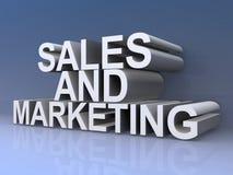 销售和营销标志 向量例证