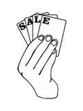 销售商标 图库摄影