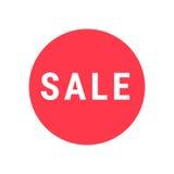 销售圈子标志 简单的象待售或购物促进 库存照片