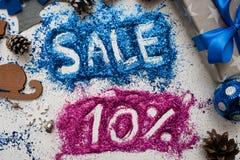 销售圣诞节和新年假日 免版税库存照片