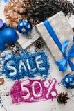 销售圣诞节和新年假日 免版税库存图片