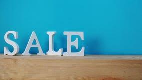 销售字母表信件有空间背景 图库摄影