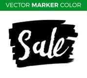 销售字法,黑星期五标记,横幅,广告,例证 图库摄影