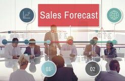 销售展望计划战略企业概念 库存照片