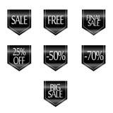 销售折扣的汇集称呼了origami横幅,标签,标记,象征 免版税库存图片