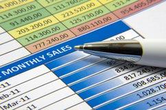 销售报告 免版税库存照片