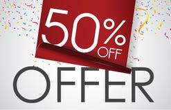 销售提议传染媒介设计横幅的50% 免版税库存图片