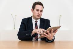 销售摊点介绍办公室 免版税图库摄影