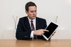 销售摊点介绍办公室 免版税库存图片