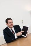 销售摊点介绍办公室 免版税库存照片
