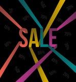 销售文本颜色丝带样式 免版税库存图片