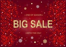 销售新年红色和金子 库存图片