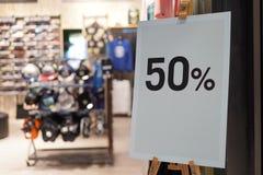 销售标志时尚零售店商店 免版税库存照片